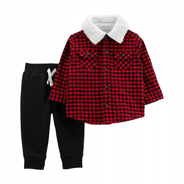 Комплект (2 шт) кофта з довгим рукавом, штани для хлопчика (1M017010_12M)