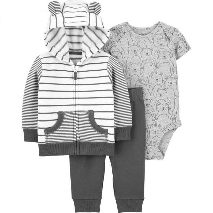 Комплект (3 шт) кардиган, боді, штани для хлопчика (1M150810_12M)