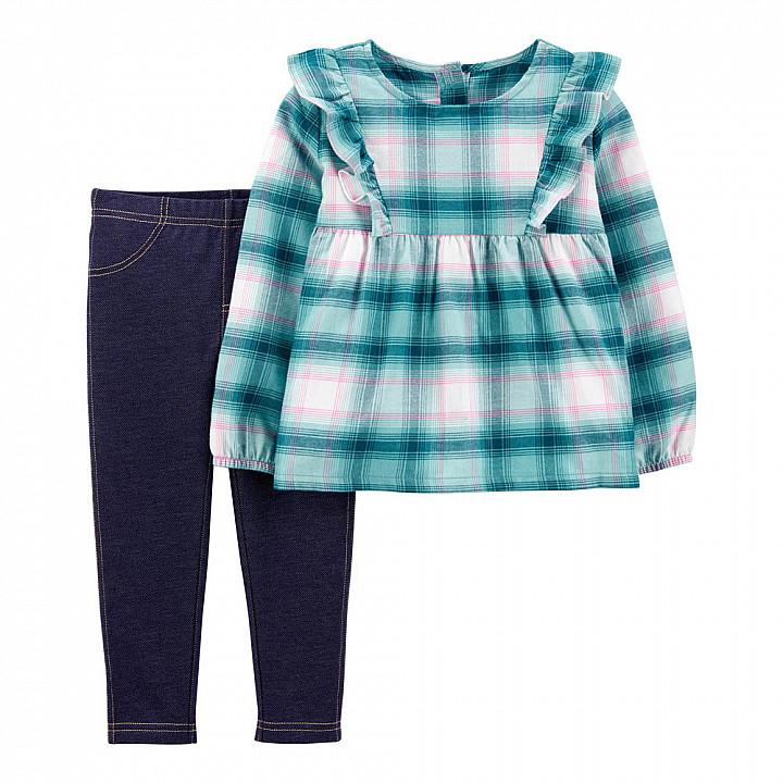Комплект (2 шт) кофта з довгим рукавом, штани для дівчинки (2J172010_2T)