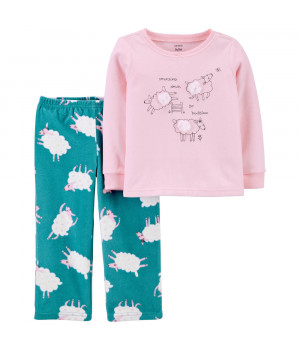 Піжама флісова для дівчинки (2J230110_2T)