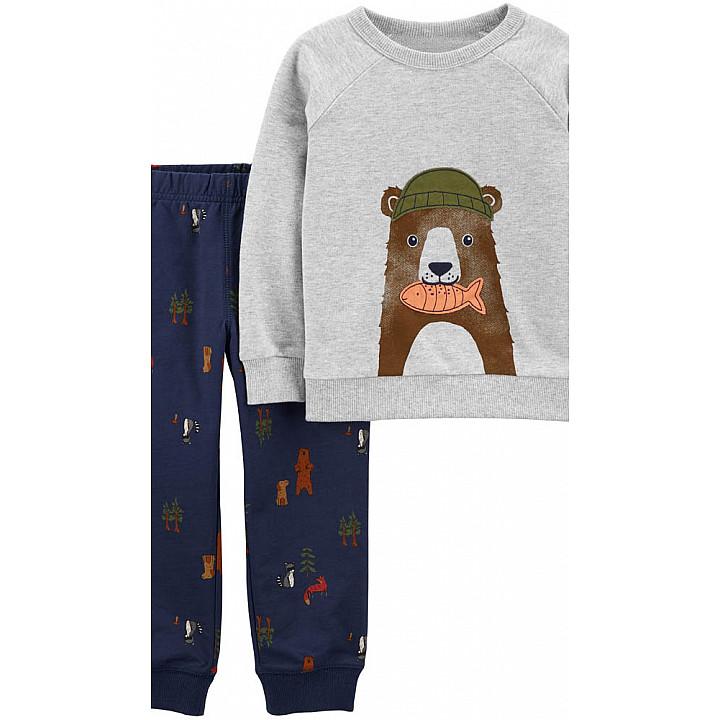 Комплект (2 шт) кофта з довгим рукавом, штани для хлопчика (2J238010_2T)