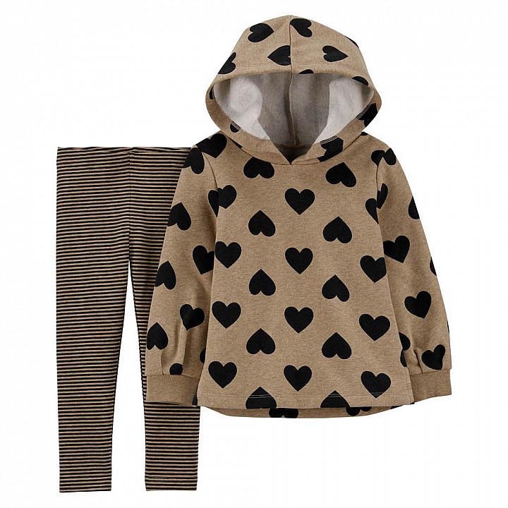 Комплект (2 шт) кофта з довгим рукавом, штани для дівчинки (2M010010_2T)