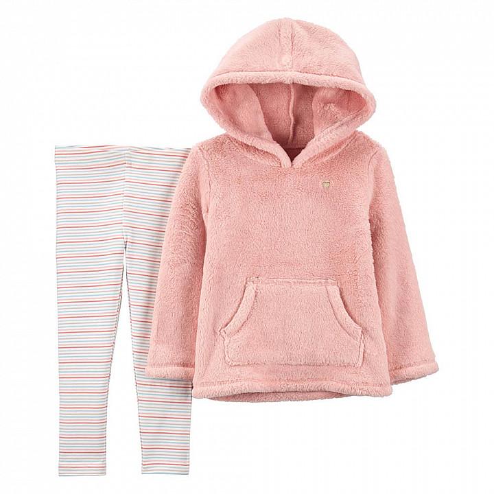 Комплект (2 шт) кофта з довгим рукавом, штани для дівчинки (2M010310_2T)