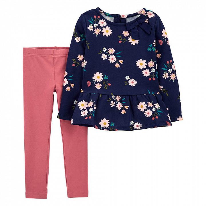 Комплект (2 шт) кофта з довгим рукавом, штани для дівчинки (2M010510_2T)