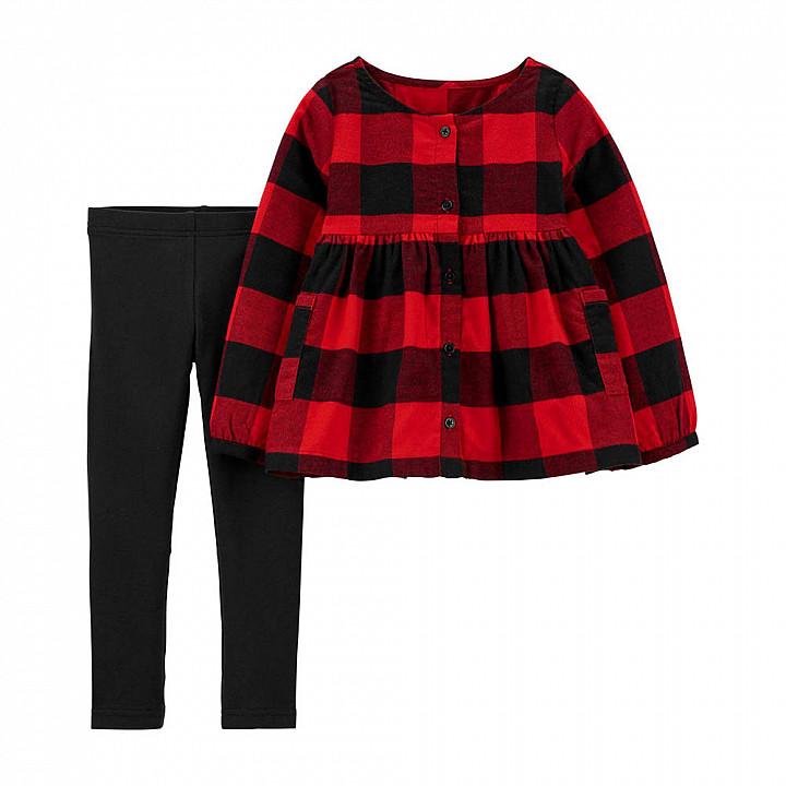 Комплект (2 шт) кофта з довгим рукавом, штани для дівчинки (2M010710_2T)