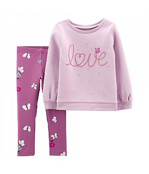 Комплект (2 шт) кофта з довгим рукавом, штани для дівчинки (2M010910_3T)