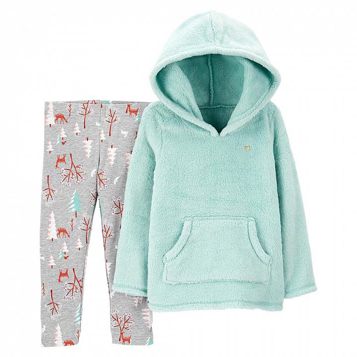 Комплект (2 шт) кофта з довгим рукавом, штани для дівчинки (2M011310_2T)