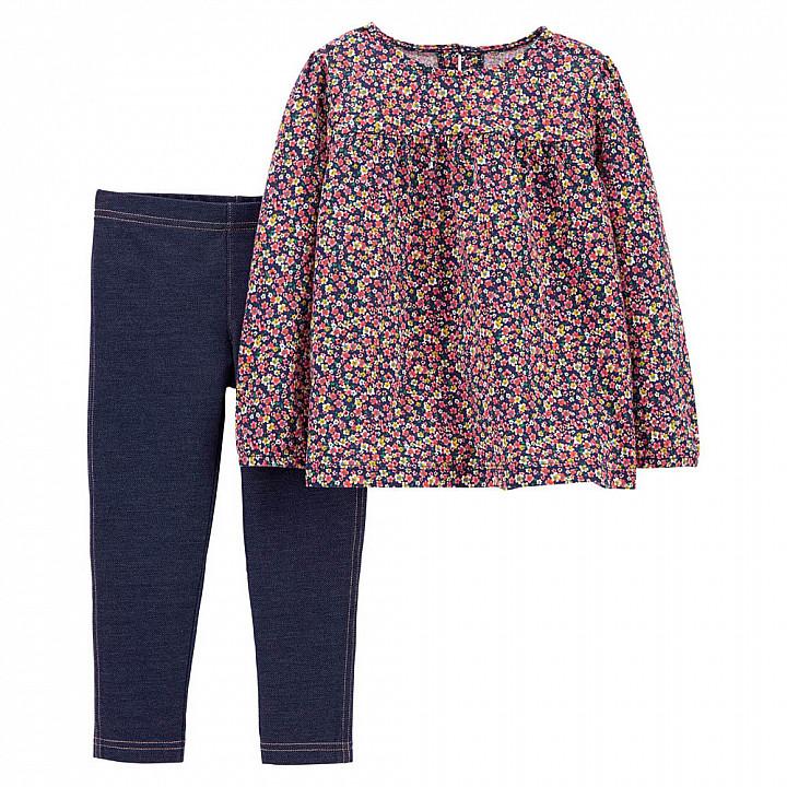 Комплект (2 шт) кофта з довгим рукавом, штани для дівчинки (2M011410_2T)