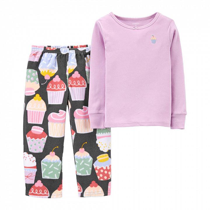 Піжама флісова для дівчинки (2M031610_2T)