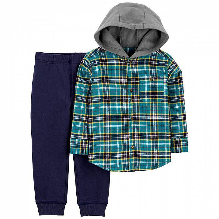 Комплект (2 шт) кофта з довгим рукавом, штани для хлопчика (2M034510_2T)