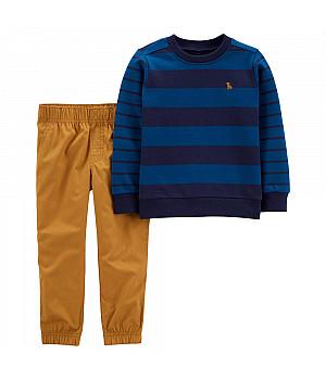 Комплект (2 шт) кофта з довгим рукавом, штани для хлопчика (2M036810_2T)