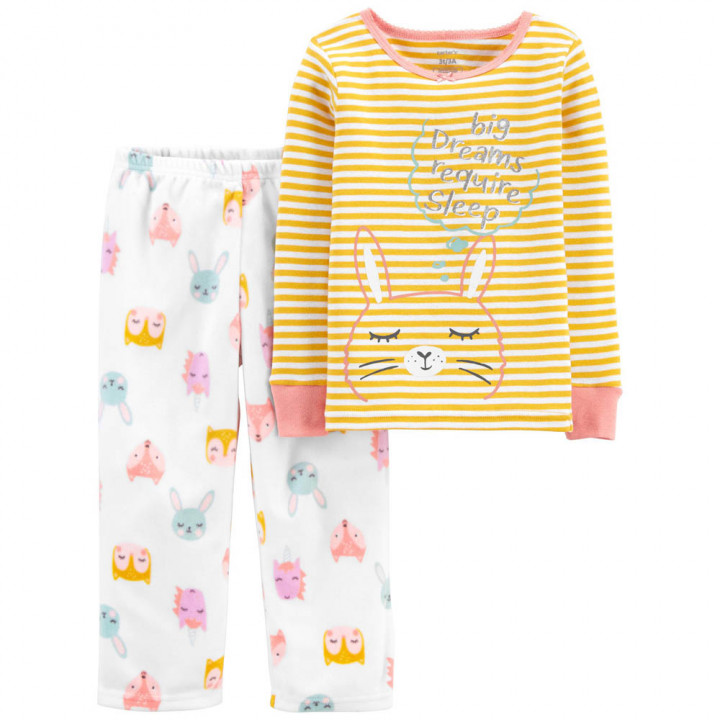 Піжама флісова для дівчинки (2M153310_2T)