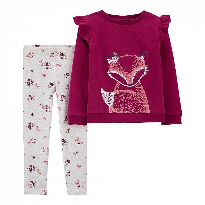 Комплект (2 шт) кофта з довгим рукавом, штани для дівчинки (2M455310_2T)