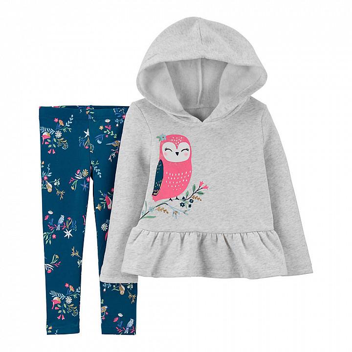 Комплект (2 шт) кофта з довгим рукавом, штани для дівчинки (2M455510_2T)