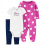Комплект (3 шт.) боді, сліп-чоловічок, штани для дівчинки (46-55cm) (1L761110_NB)