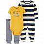 Комплект (3 шт.) боді, сліп-чоловічок, штани для хлопчика (46-55cm) (1L761510_NB)