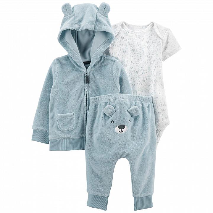 Комплект (3 шт.) кардиган, боді, штани для хлопчика (55-61cm) (1L772810_3M)