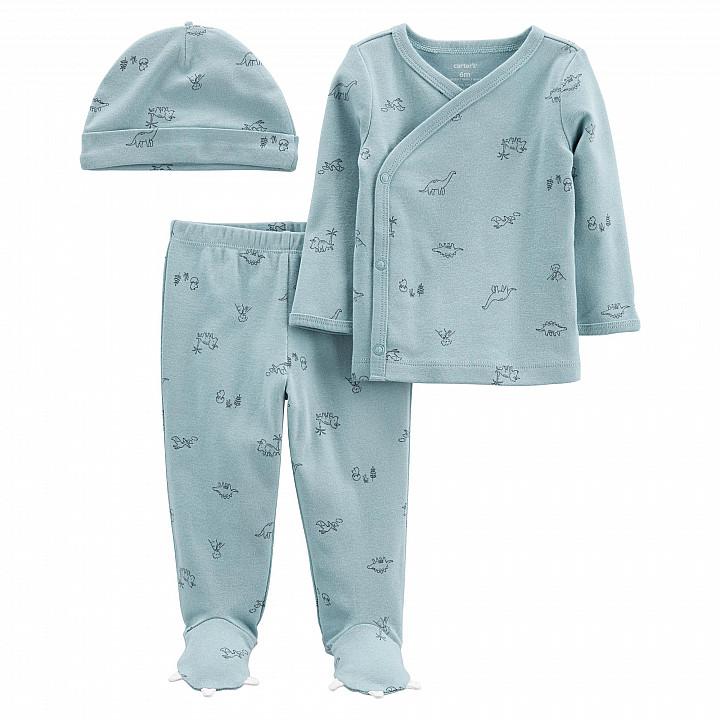 Комплект (3 шт.) штани, кофта, шапочка для хлопчика (46-55cm) (1L775510_NB)