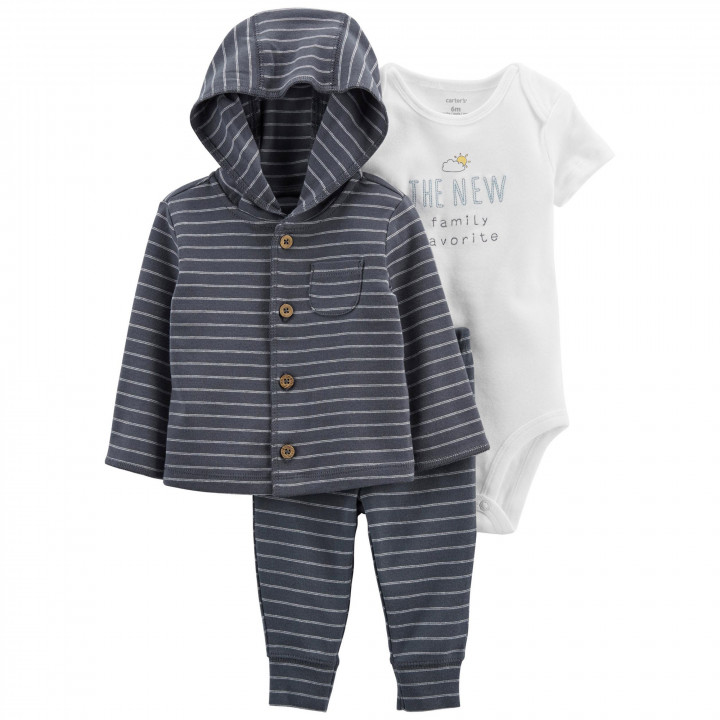 Комплект (3 шт.) кардиган, боді, штани для хлопчика (55-61cm) (1L776310_3M)