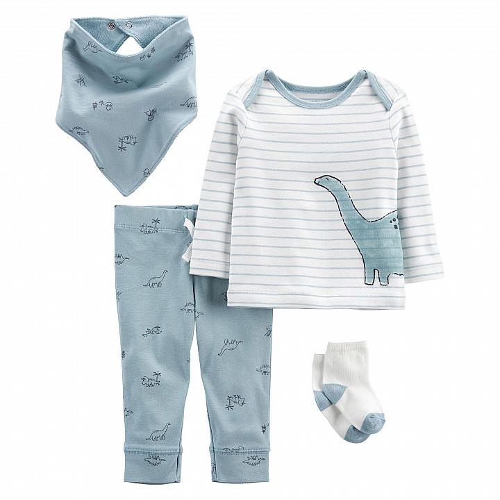 Комплект (4 шт.) штани, кофта, шапочка, шкарпетки для хлопчика (46-55cm) (1L776510_NB)