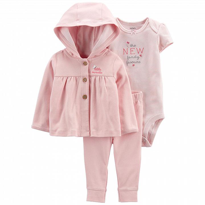 Комплект (3 шт.) кардиган, боді, штани для дівчинки (55-61cm) (1L777810_3M)