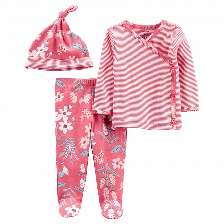 Комплект (3 шт.) штани, кофта, шапочка для дівчинки (0m) (1L777910_PRE)