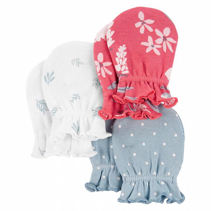 Комплект рукавичок (3шт.) для дівчинки (46-61 cm) (1L779010_0-3M)