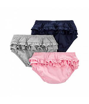 Комплект трусиків під підгузок (3 шт.) для дівчинки (55-61cm) (1L932010_3M)