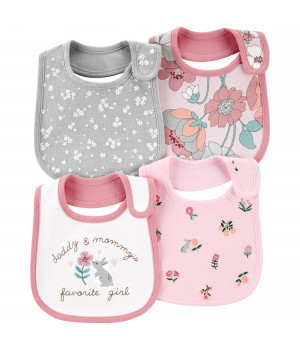 Комплект слинявчиків для дівчинки 4В1 (1I713210_OSZ)