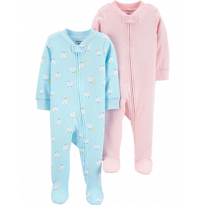 Комплект з 2-х піжам для дівчаток (1H370910_3M)